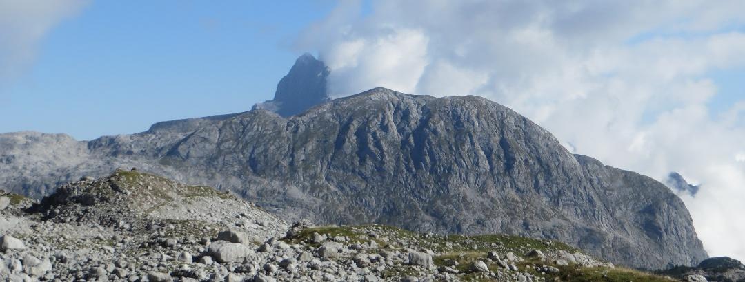 Der Große Schneiber mit Watzmann im Hintergrund