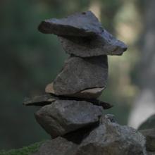 Steinmännchen am Felsenweg