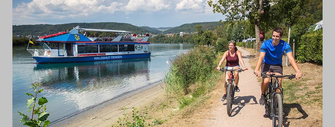 Radweg am Hochrhein bei Waldshut-Tiengen