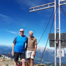 Höchstein Gipfel mit Peter