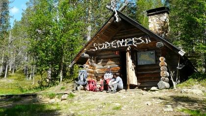 Hütte im Urho-Kekkonen-Nationalpark