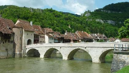 Nepomukbrücke in St.Ursanne