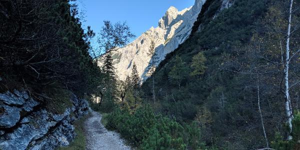 Reintal nach der Reintalangerhütte Richtung Partnachklamm