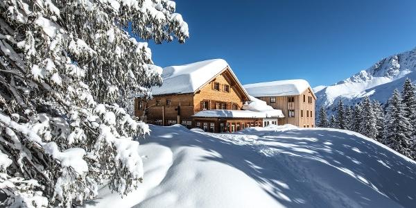 Lindauer Hütte im Winter