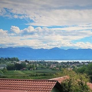 Blick vom Taubenberg zum Bodensee