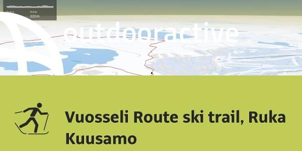 Interactive 3D flight: Vuosseli Route ski trail, Ruka Kuusamo