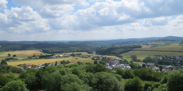Ausblick vom Booser Eifelturm