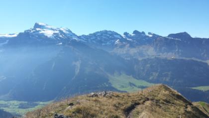 Aussicht vom Rigidalstock (links Titlis)