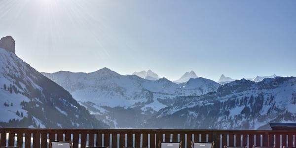 Aussicht von der Sonnenterrasse Marbachegg