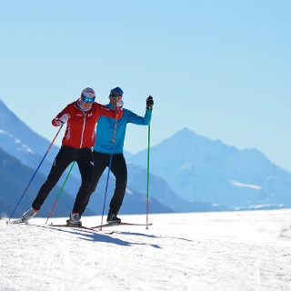 Pleasurable cross-country skiing between Obergesteln and Münster