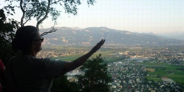Blick ins Rheintal von der Meldegg