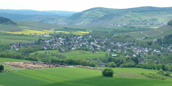 Sicht von der Paulskirche auf Maring-Noviand
