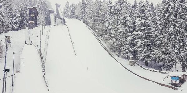 Die Sprungschanzen am Kälberstein   Berchtesgaden