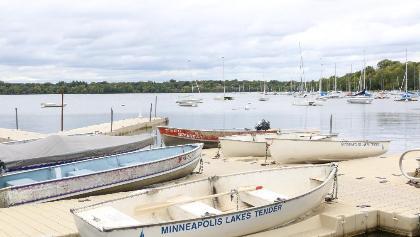 Boats on Lower Lake, Minneapolis