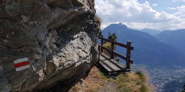 Wanderung von der Riederalp über die Knebelbrücke nach Blatten