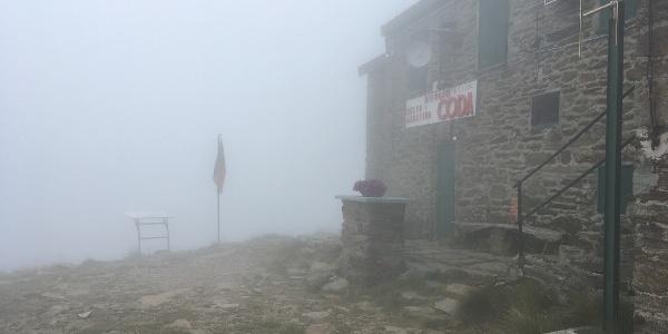 Rifugio Coda (heute ohne Aussicht)