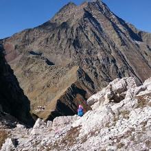 Blick zur Innsbrucker Hütte