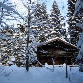 Längenberghütte im Winter