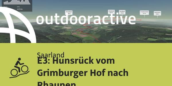 Mountainbike-tour im Saarland: E3: Hunsrück vom Grimburger Hof nach Rhaunen