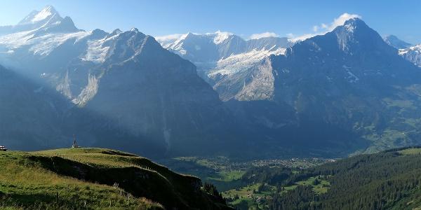 Aussicht von Grindelwald First.