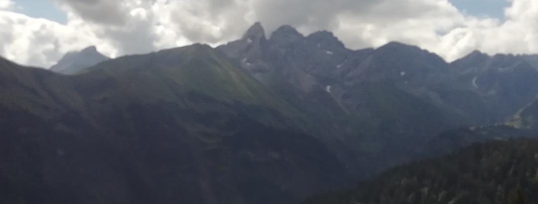 Blick vom Kanzelwandhaus  Richtung Südwesten auf Trettachspitze