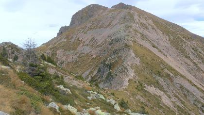 Rückblick zum Monte Croce