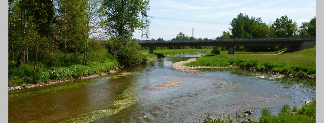 Zusammenfluss von Brigach und Breg in die Donau