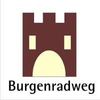Routenlogo für den Burgen-Radweg