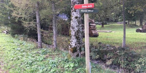 Follow sign to ceska koca