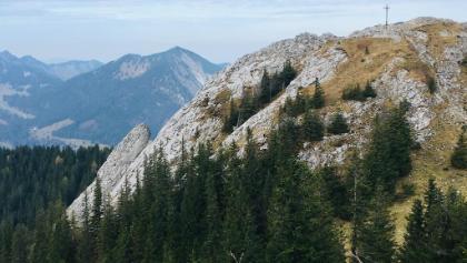 Taubenstein, links auf dem Grat verläuft die Route