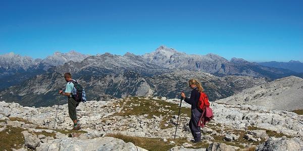 Hiking on the Slovenia mountain trail
