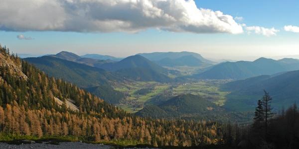 Blick von der Breiten Ries in Richtung Puchberg