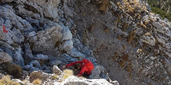 Kletterstelle am Fuchslochsteig