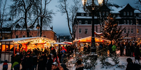Händler auf dem Wiesenthaler Advent