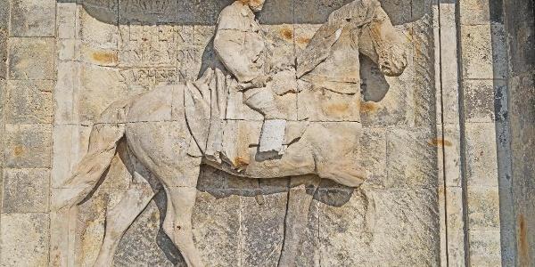 Reiterstandbild mit König Albert