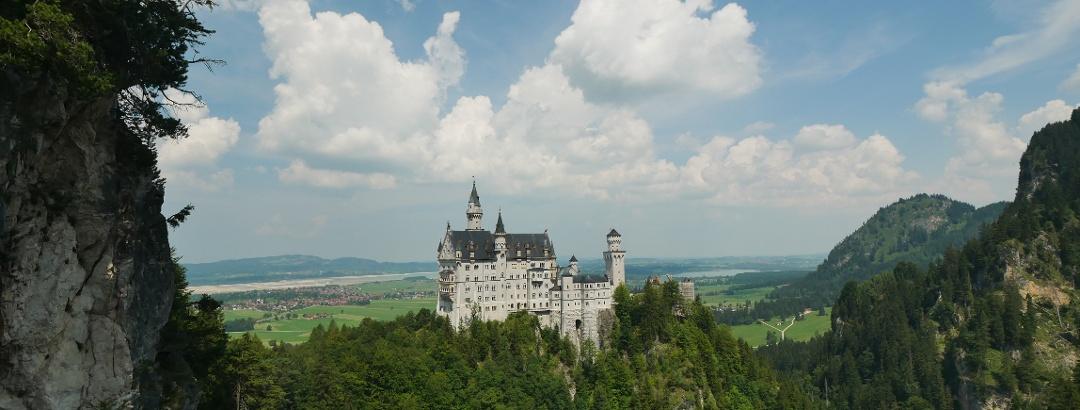 View from the Marienbrücke to Neuschwanstein Castle