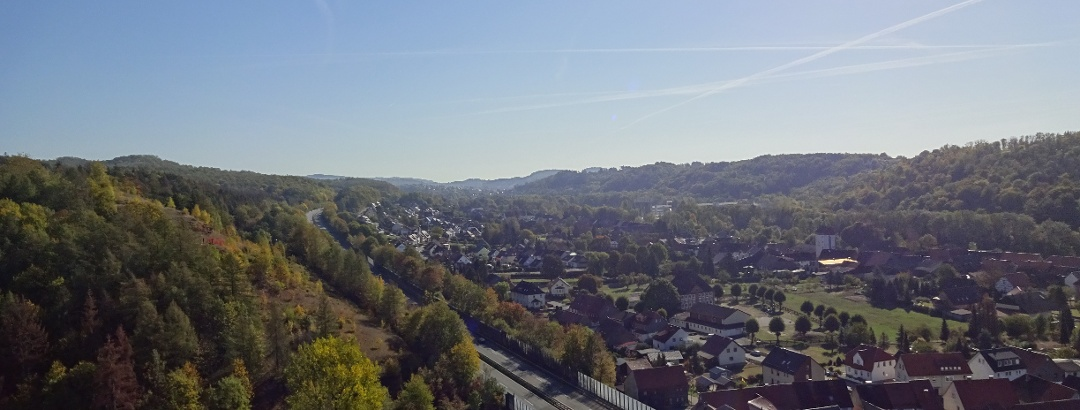 Blick über Scharzfeld und Umgebung