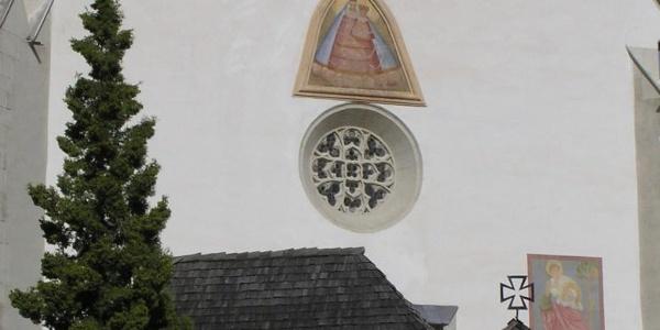 Pfarrkirche Hirschegg, Westfassade