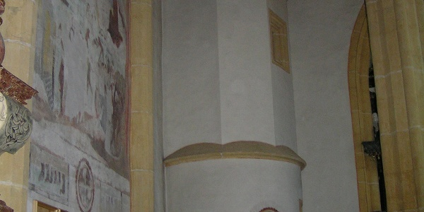 Pfarrkirche Hirschegg, Turmaufgang innen