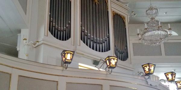 Poppe-Orgel in der Bergkirche Seiffen.