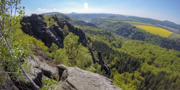 Aussicht vom Schrammsteinweg