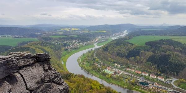 Aussicht vom Lilienstein