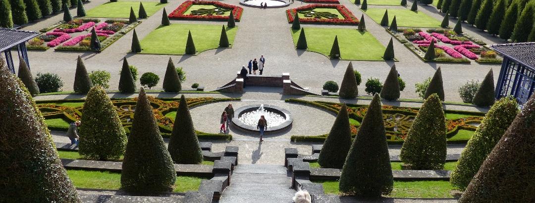 Blick in den Terassengarten