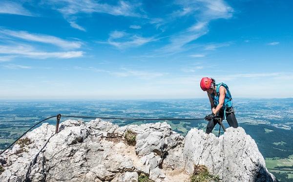Hochstaufen Klettersteig; Aussicht in den Chiemgau