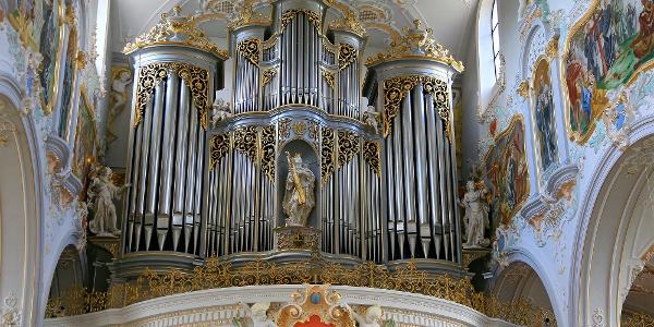 Grosse Orgel der Stiftskirche Mariastein.