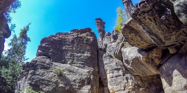Beeindruckende Welt aus Sandstein