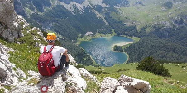 Trnovacko glacier lake - view from Sarena Lasva