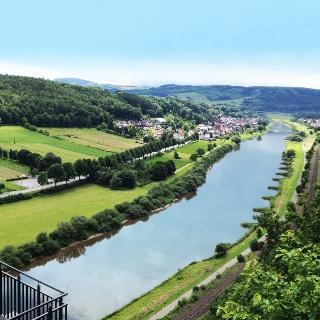 Blick vom Weser-Skywalk