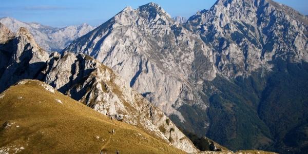View on Maglic mountain from Ugljesa peak - Zelengora