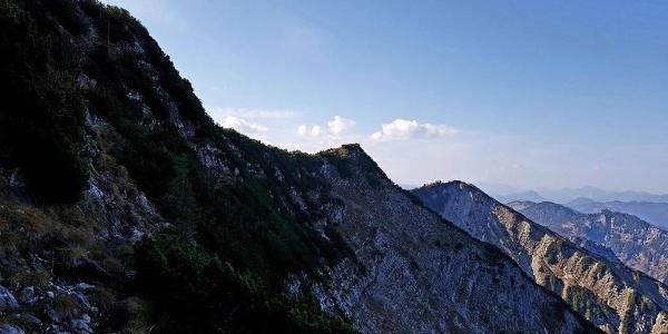 Weg zur Halserspitz - Blick zum Blauberggrad